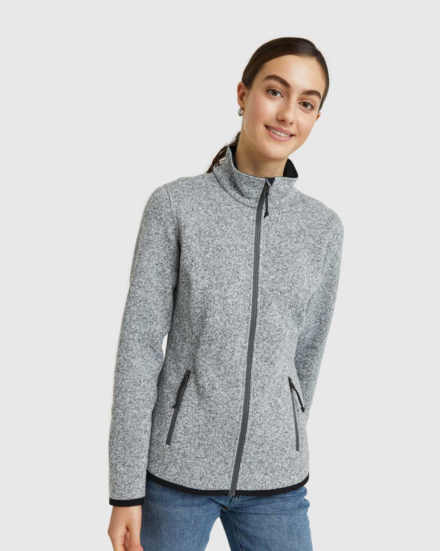 Full Zip Sweater Fleece Jacket - 13649938382959