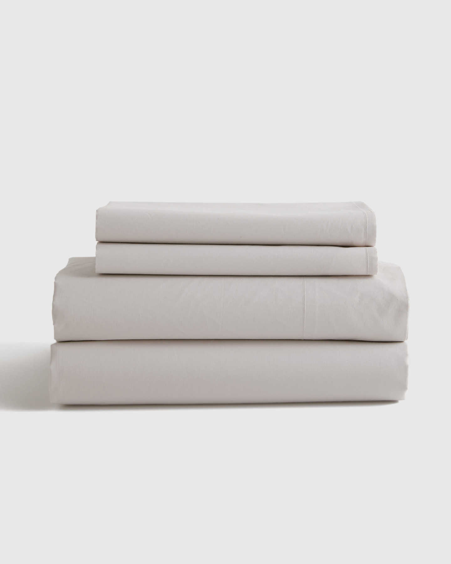 Pair With - Organic Percale Luxe Sheet Set - Light Grey