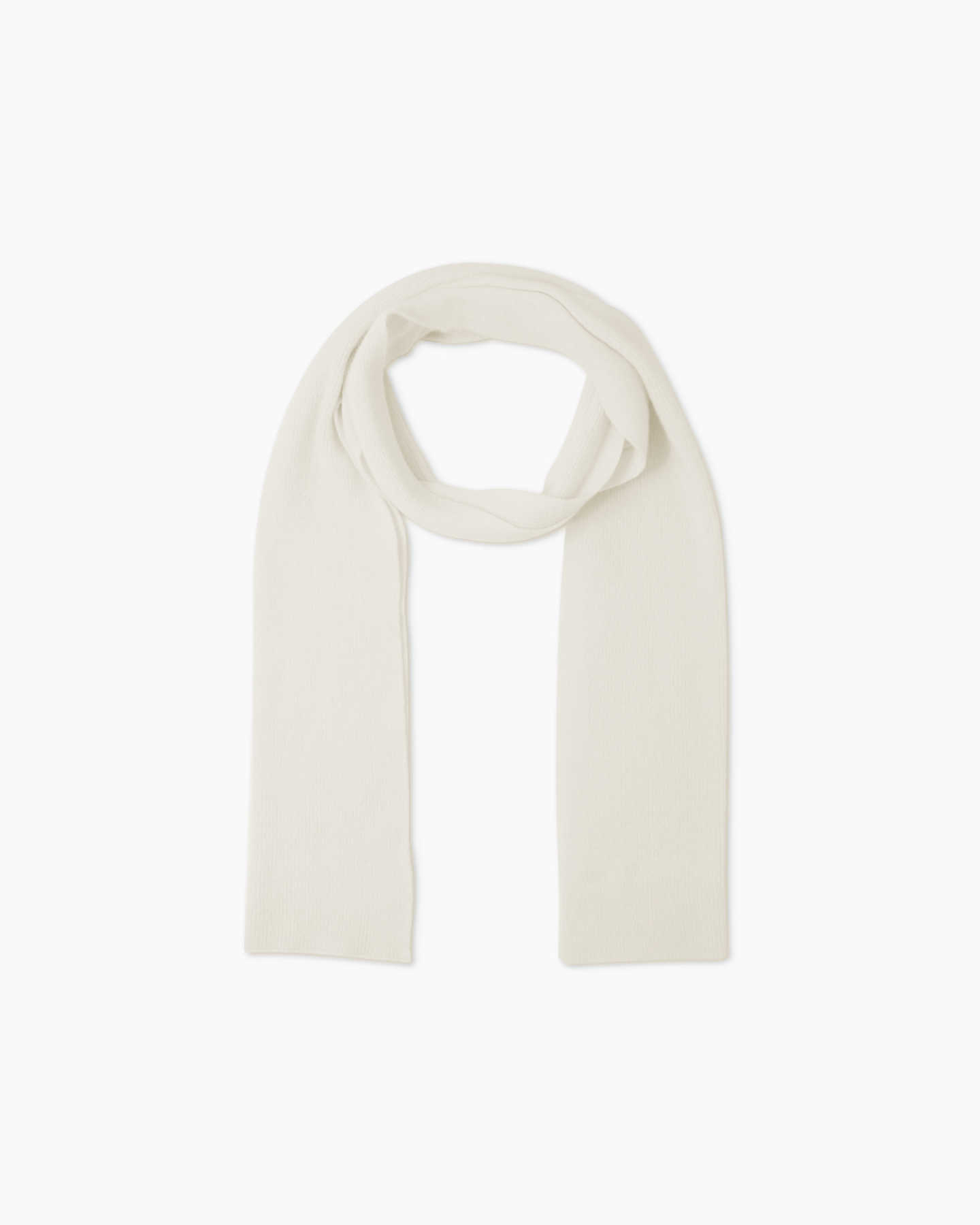 Mongolian Cashmere Scarf - Ivory - 0