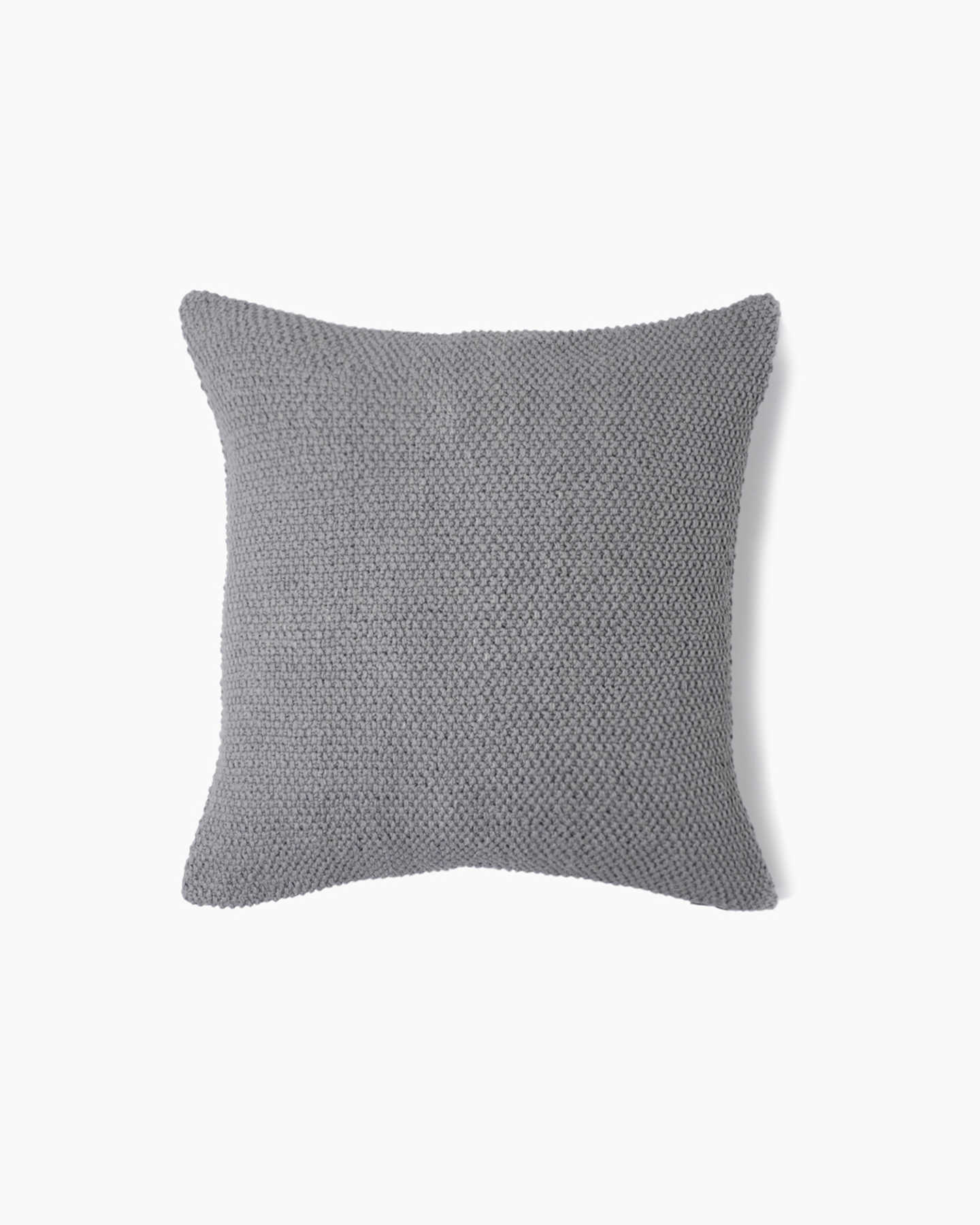Textured Cotton Pillow Cover - Grey