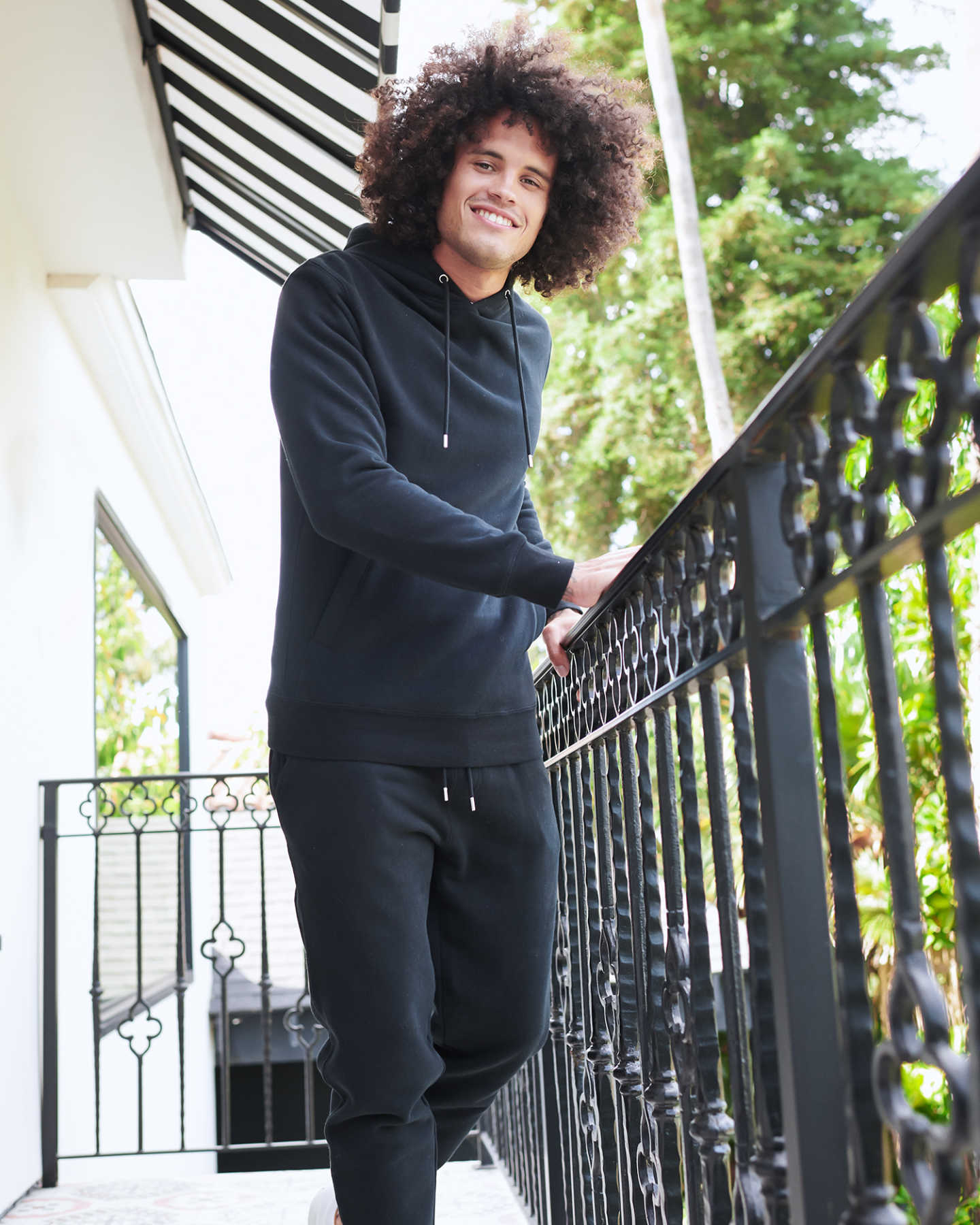 Heavyweight Organic Fleece Hoodie - Black - 2