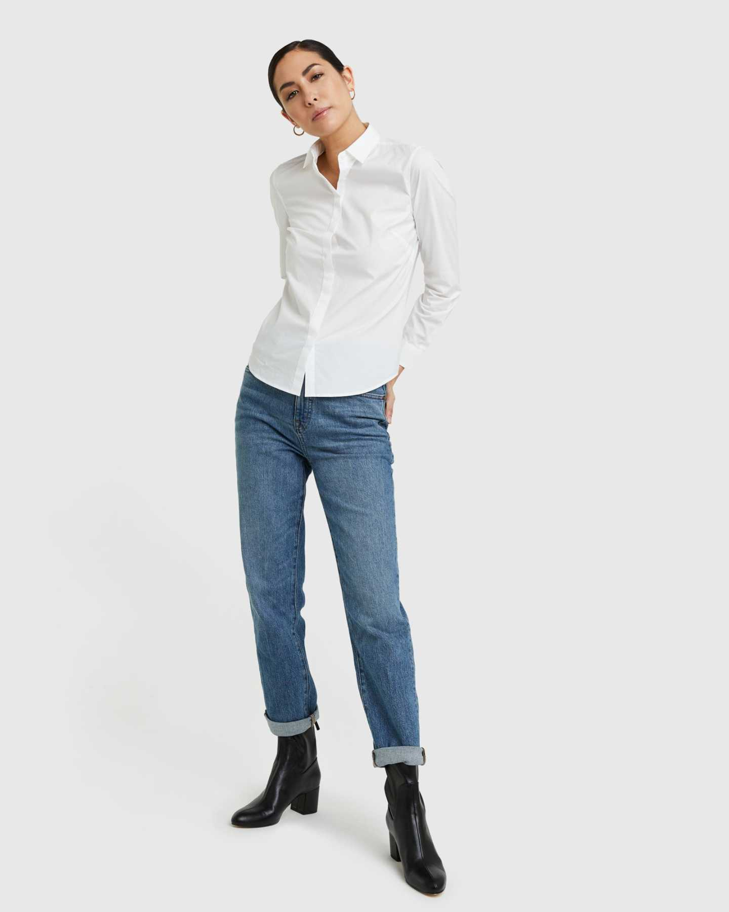 Organic Cotton Stretch Poplin Shirt - 13587171770479