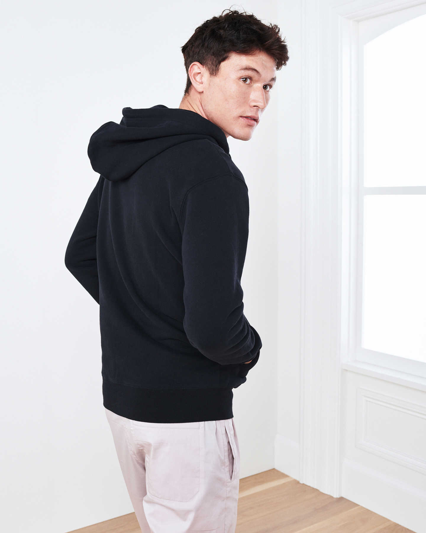 Heavyweight Organic Fleece Full-Zip Hoodie - Black - 5