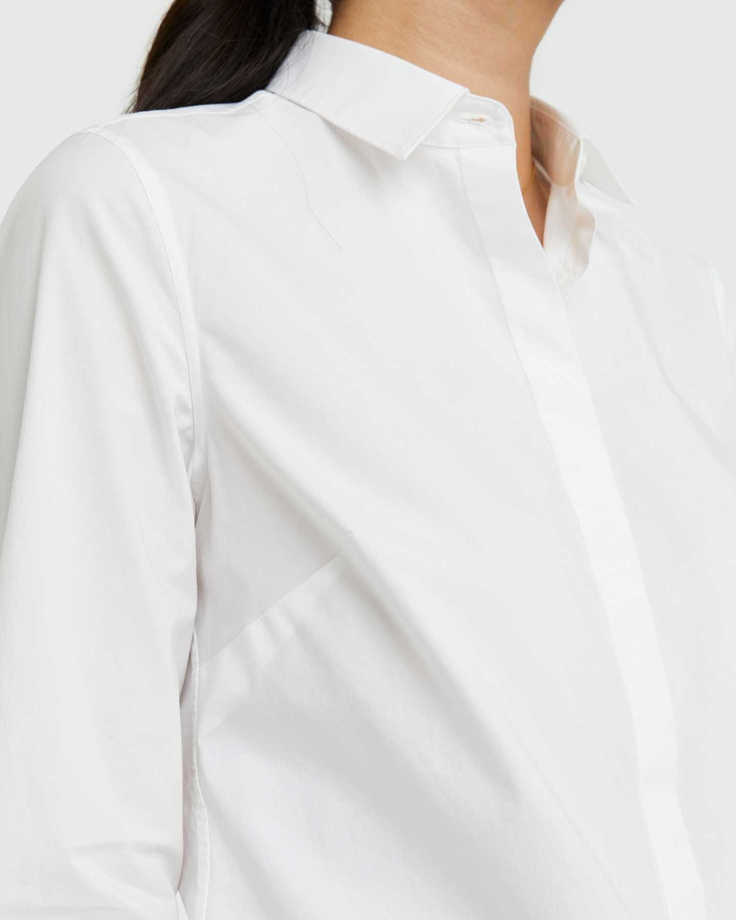 Organic Cotton Stretch Poplin Shirt - 13587171934319