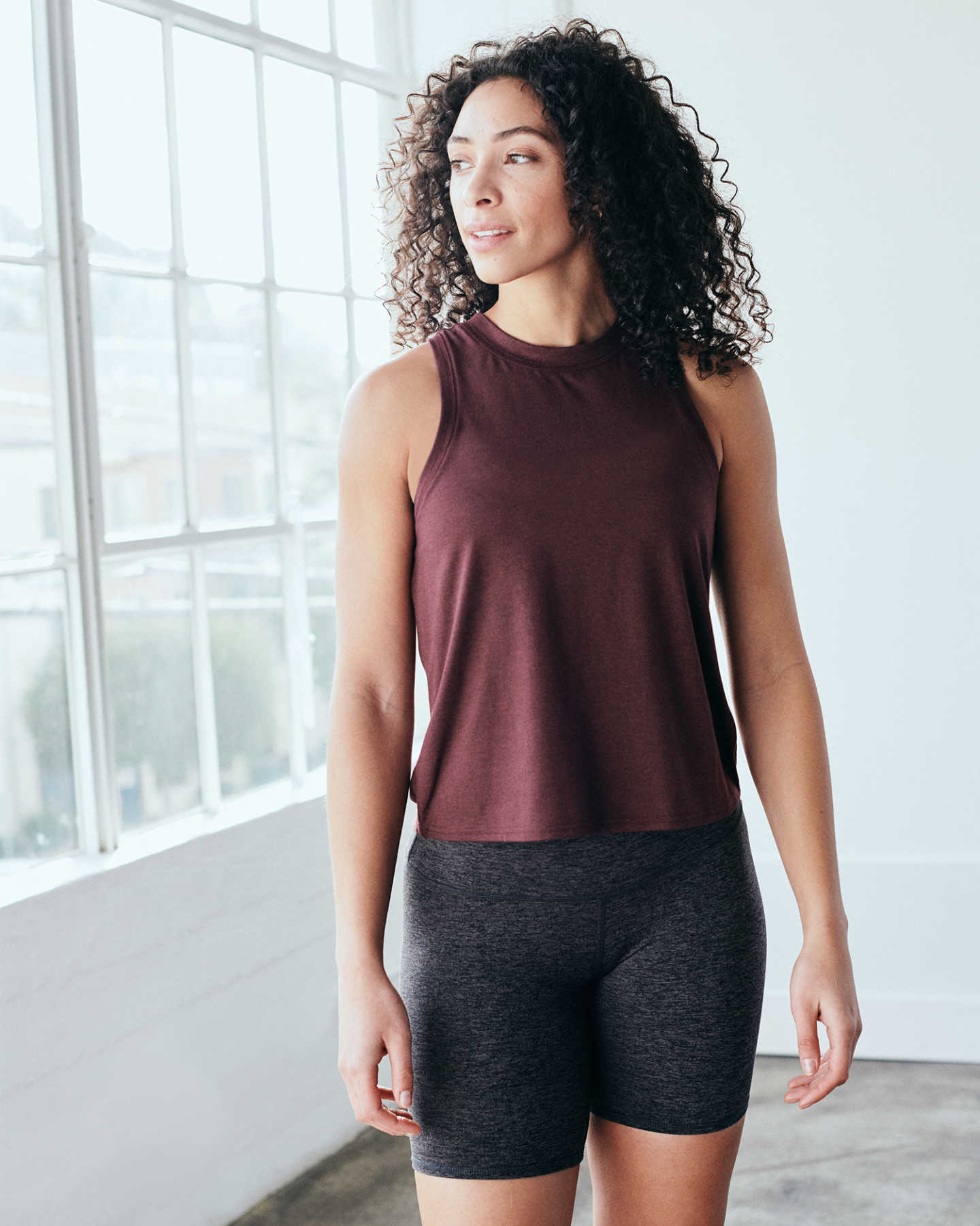 Flowknit Ultra-Soft Performance Tank - Burgundy - 2 - Thumbnail