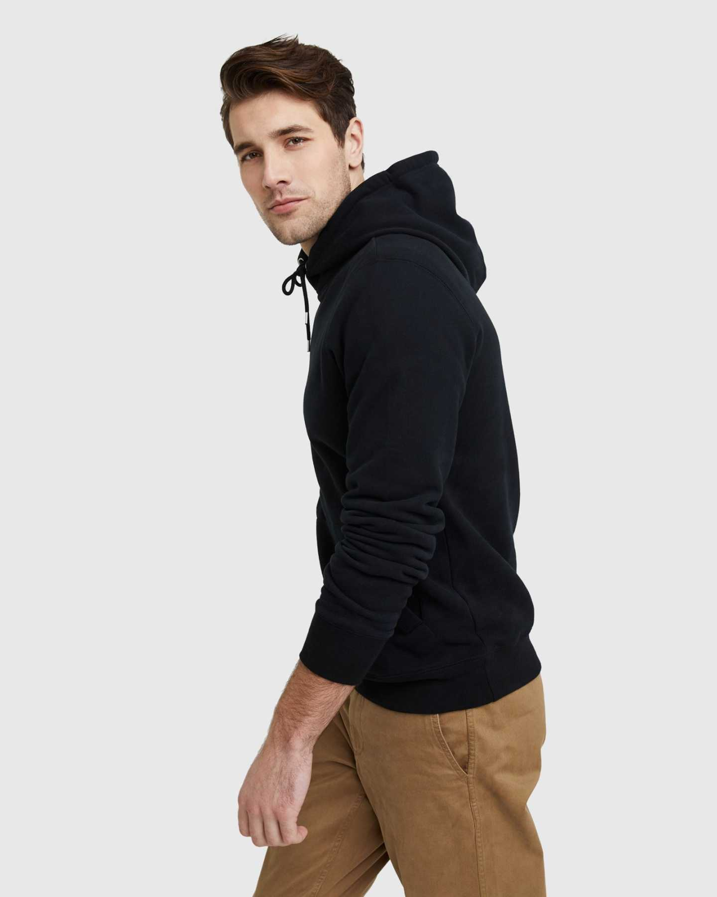 Heavyweight Organic Fleece Hoodie - Black - 7