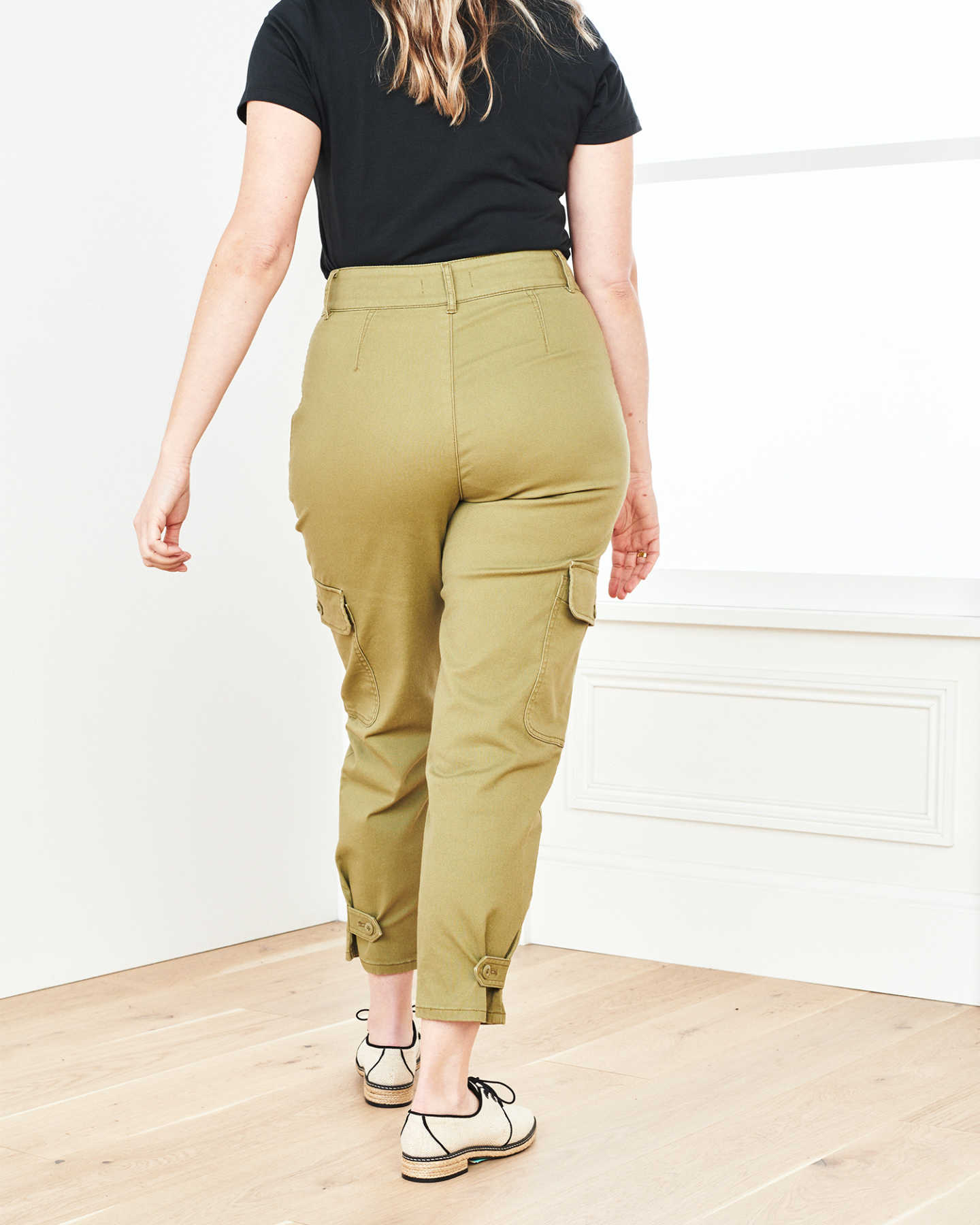 Stretch Cotton Twill Cargo Pant - Olive - 10
