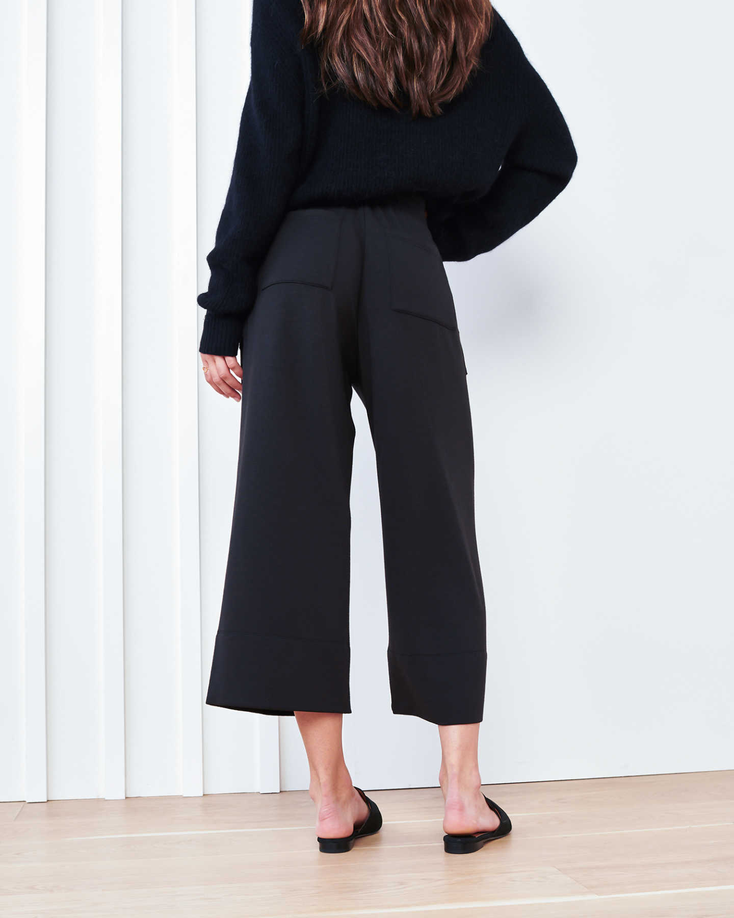 SuperSoft Fleece Wide Leg Pants - Black - 3