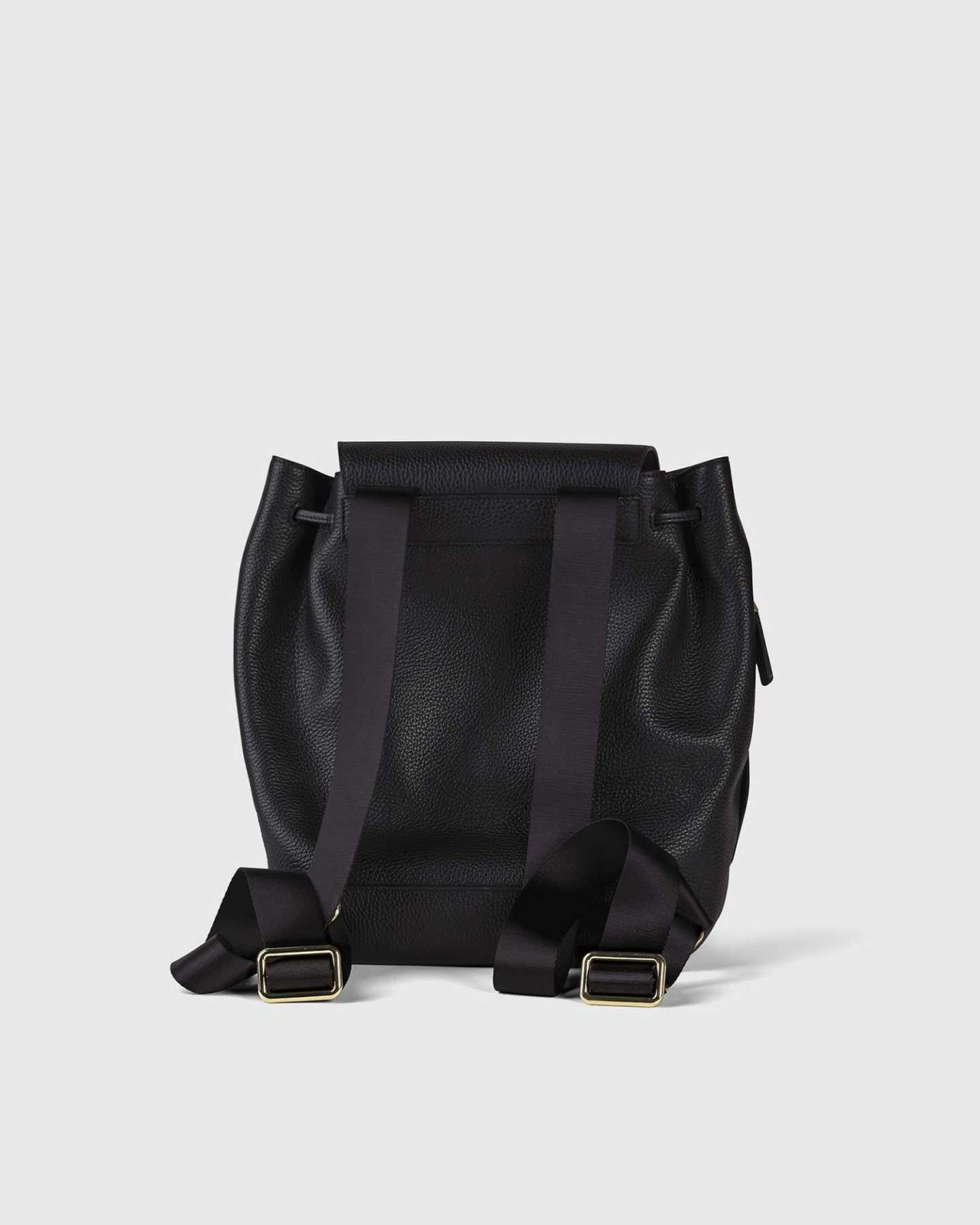 Italian Pebbled Leather Backpack - 13790590009455