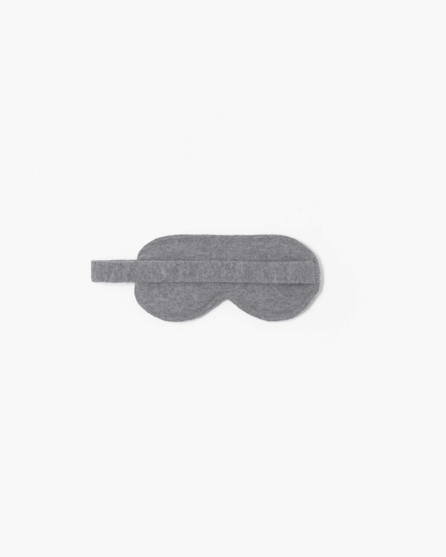 Mongolian Cashmere Sleep Mask - Heather Grey - 1 - Thumbnail