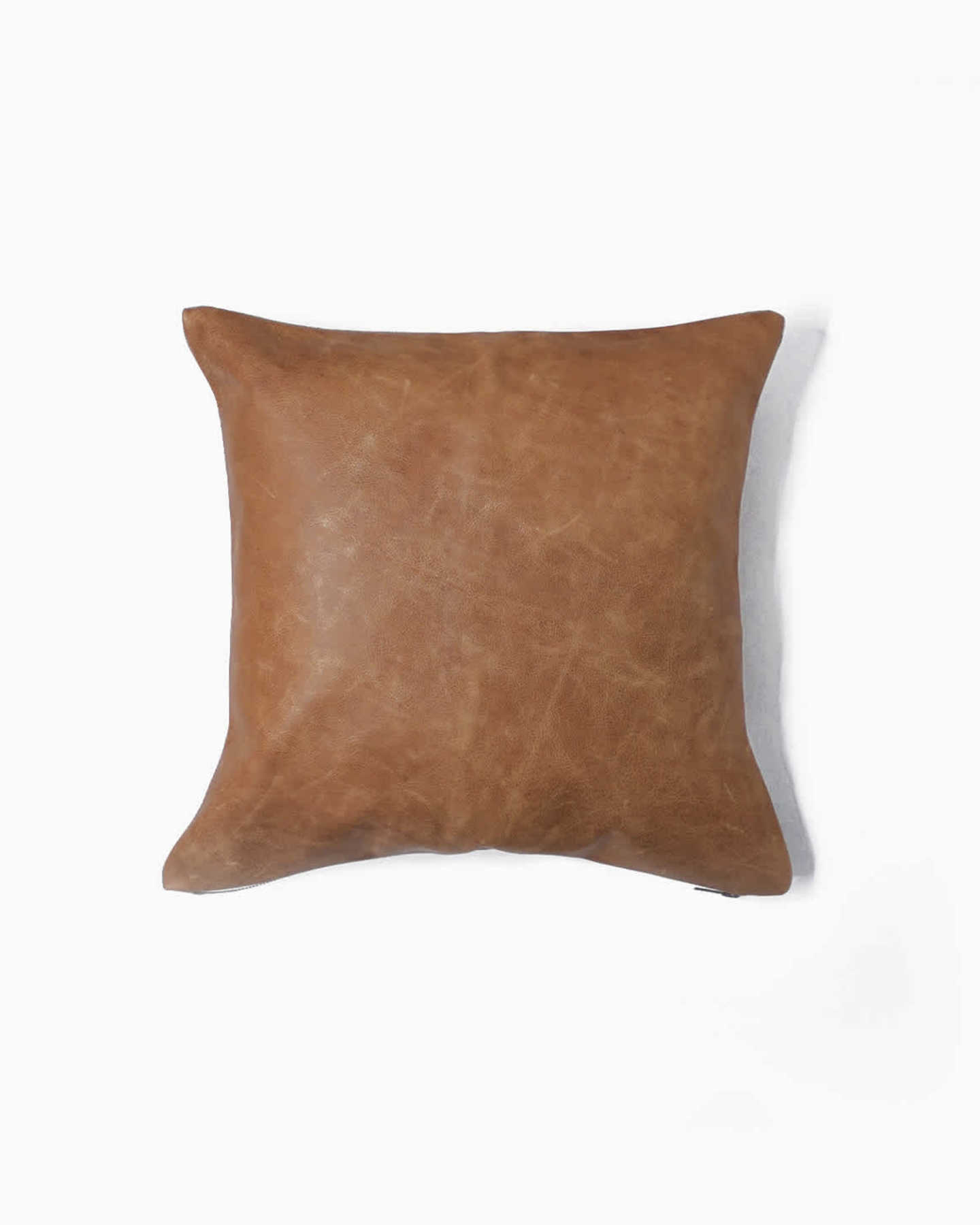 Luxe Leather Pillow Cover - Coco - 0