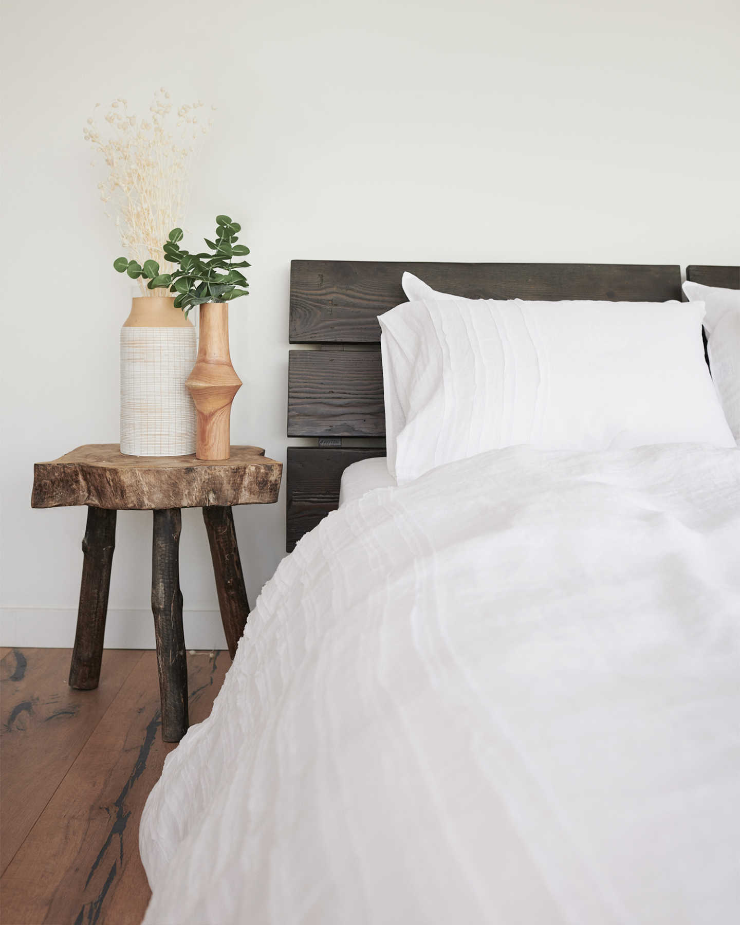French Linen Duvet Cover Set - Rouching - 3