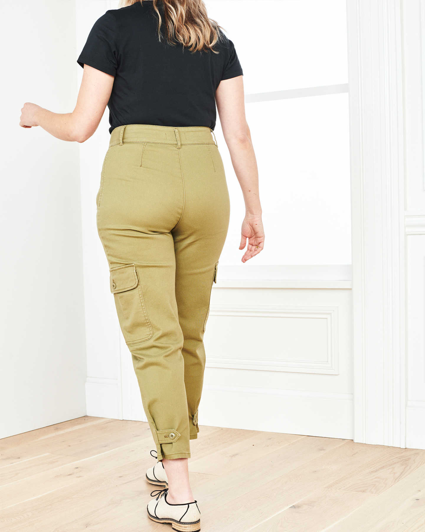 Stretch Cotton Twill Cargo Pant - Olive - 3