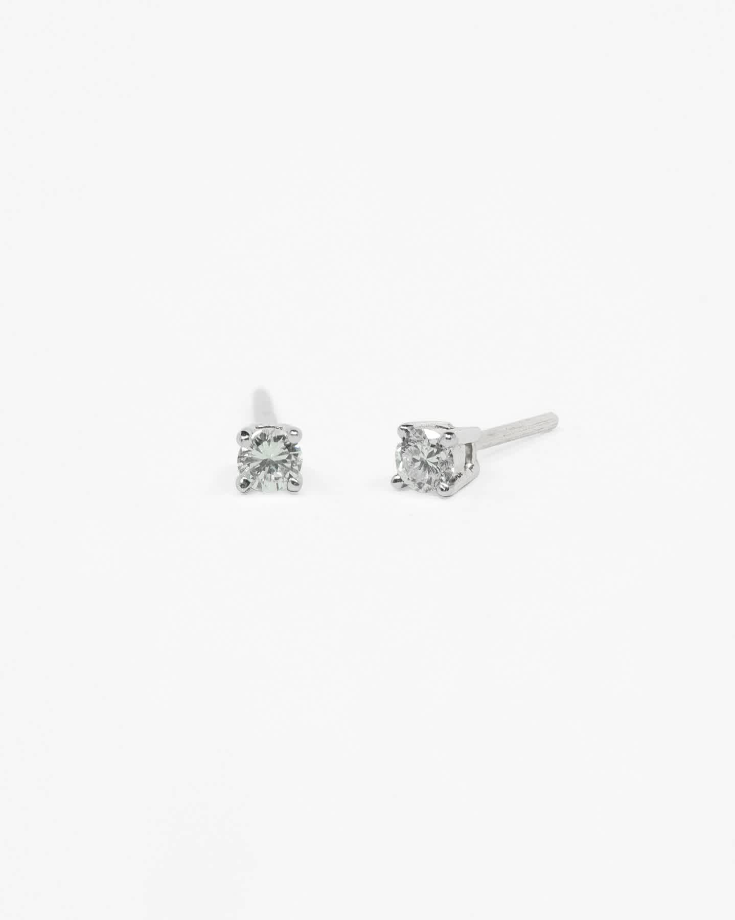Classic Diamond Stud Earrings 0.12 carat - White Gold