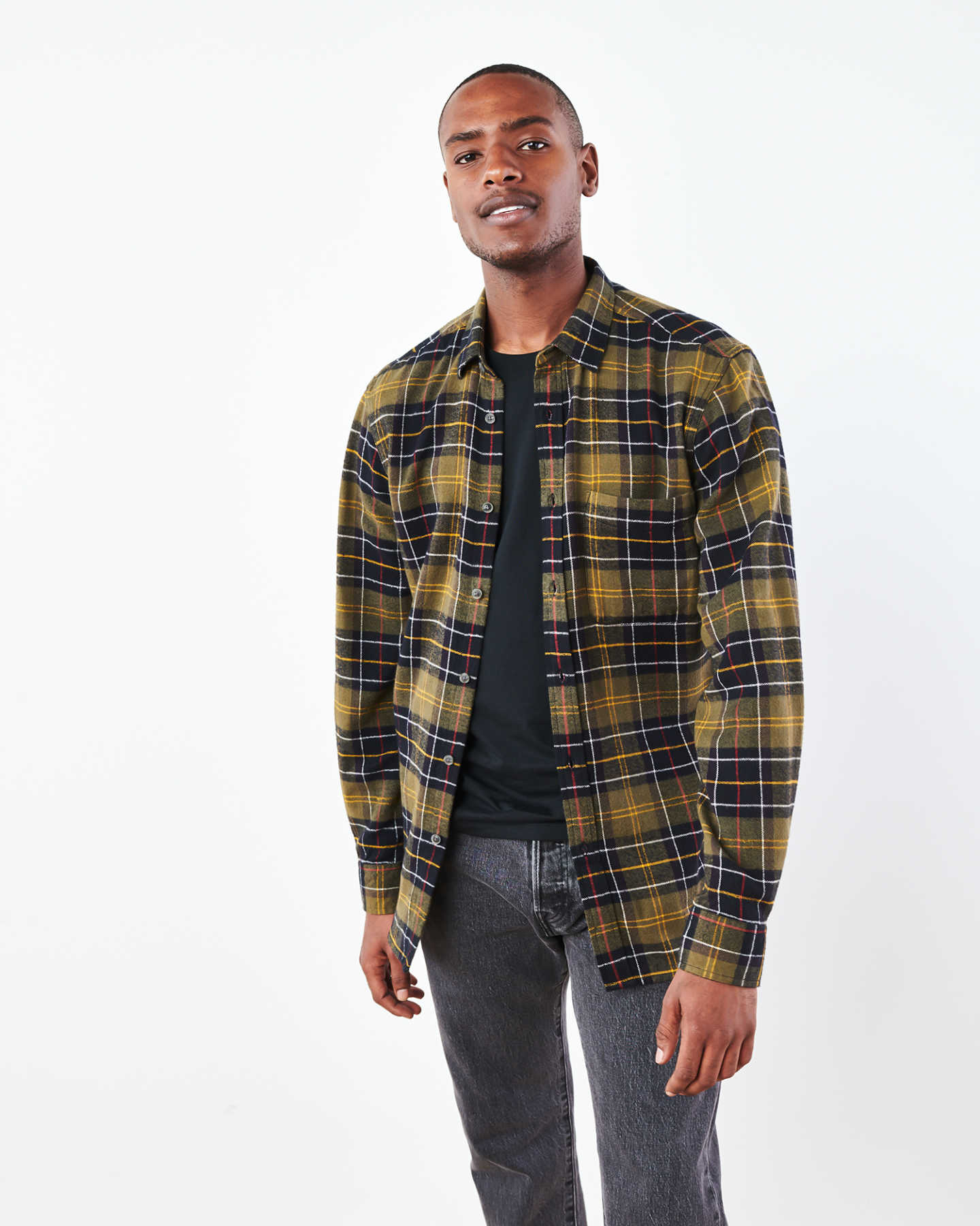 Soft Brushed Plaid Flannel Shirt - undefined - 2