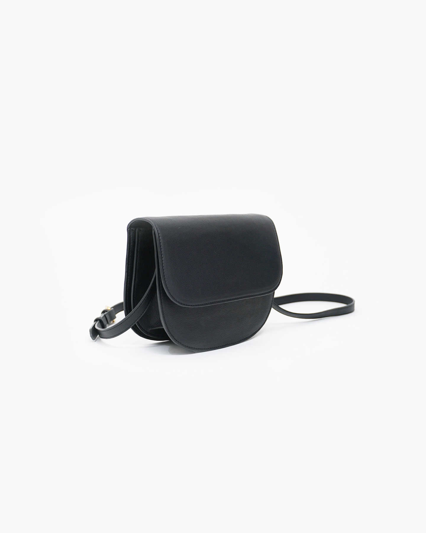 Vegan Saddle Bag - Black - 1