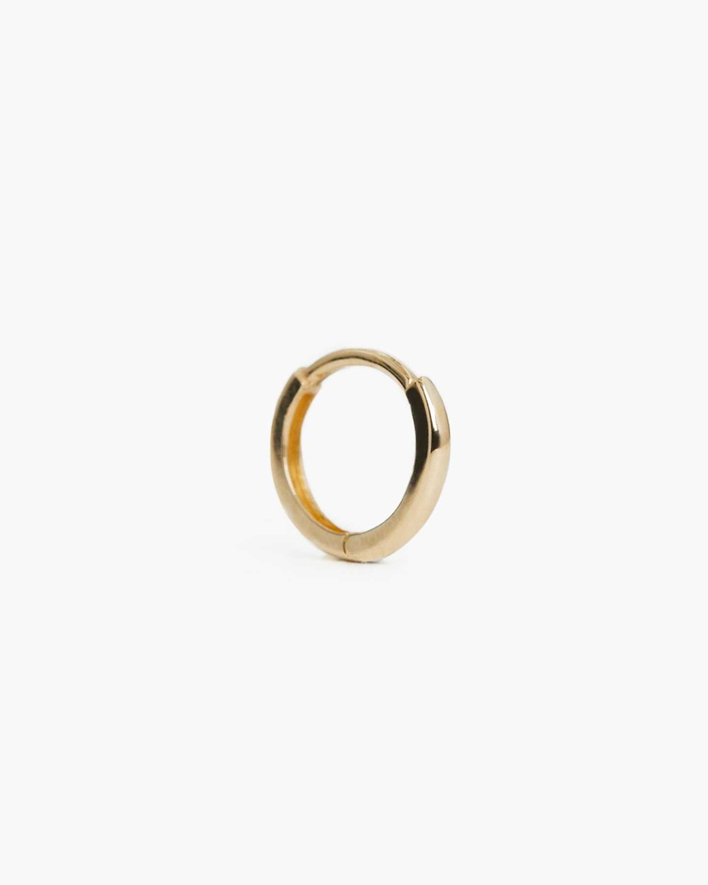 14k Gold Solo Mini Hoop - Yellow Gold