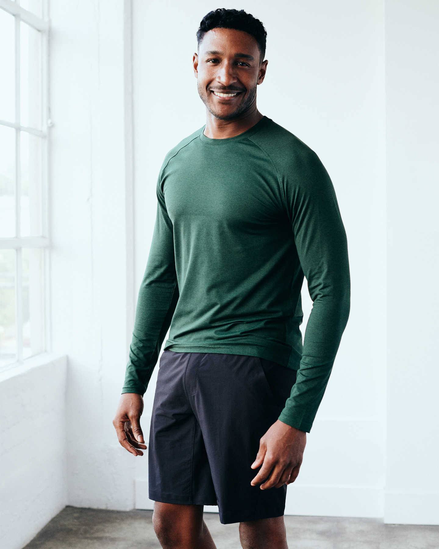 Flowknit Ultra-Soft Performance Long Sleeve Tee - Olive - 0