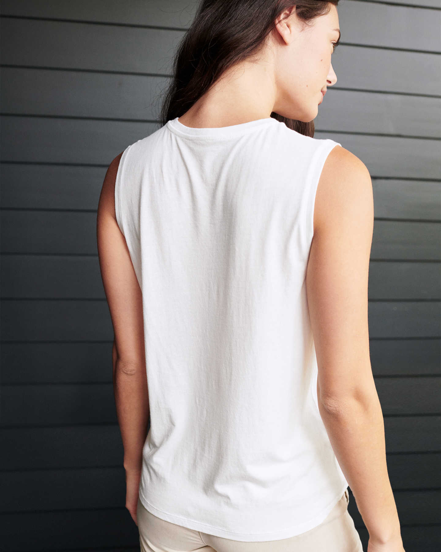 Cotton Modal Muscle Tank - White - 4