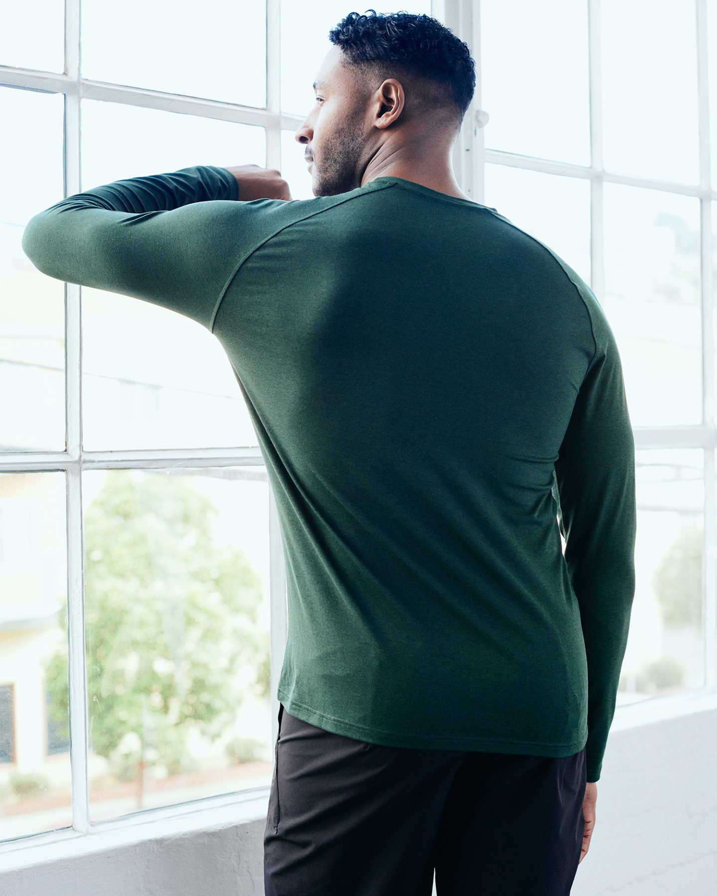 Flowknit Ultra-Soft Performance Long Sleeve Tee - Olive - 5