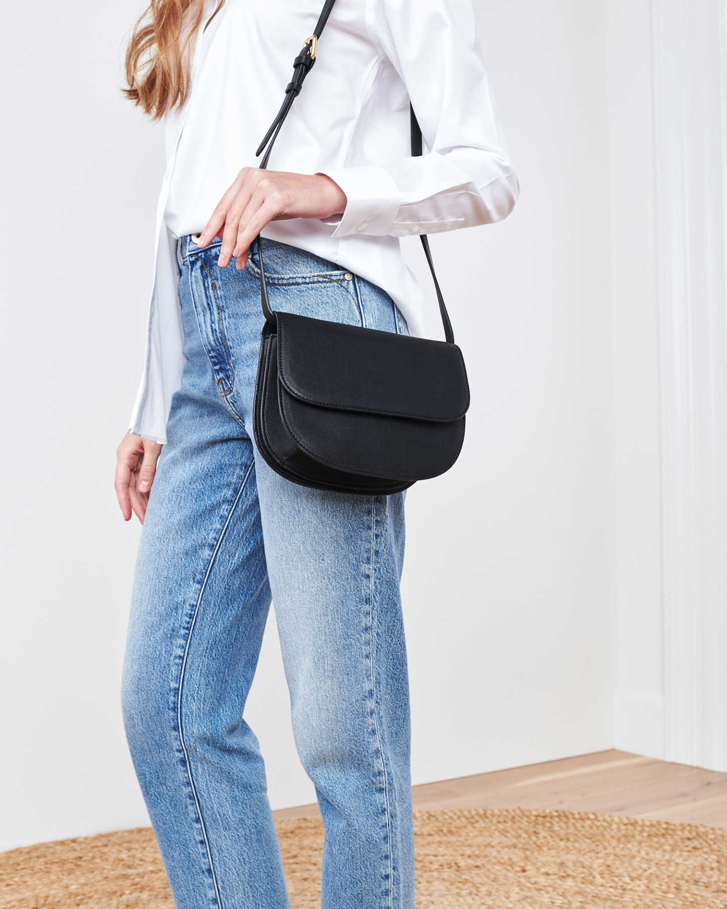 Vegan Saddle Bag - Black - 3
