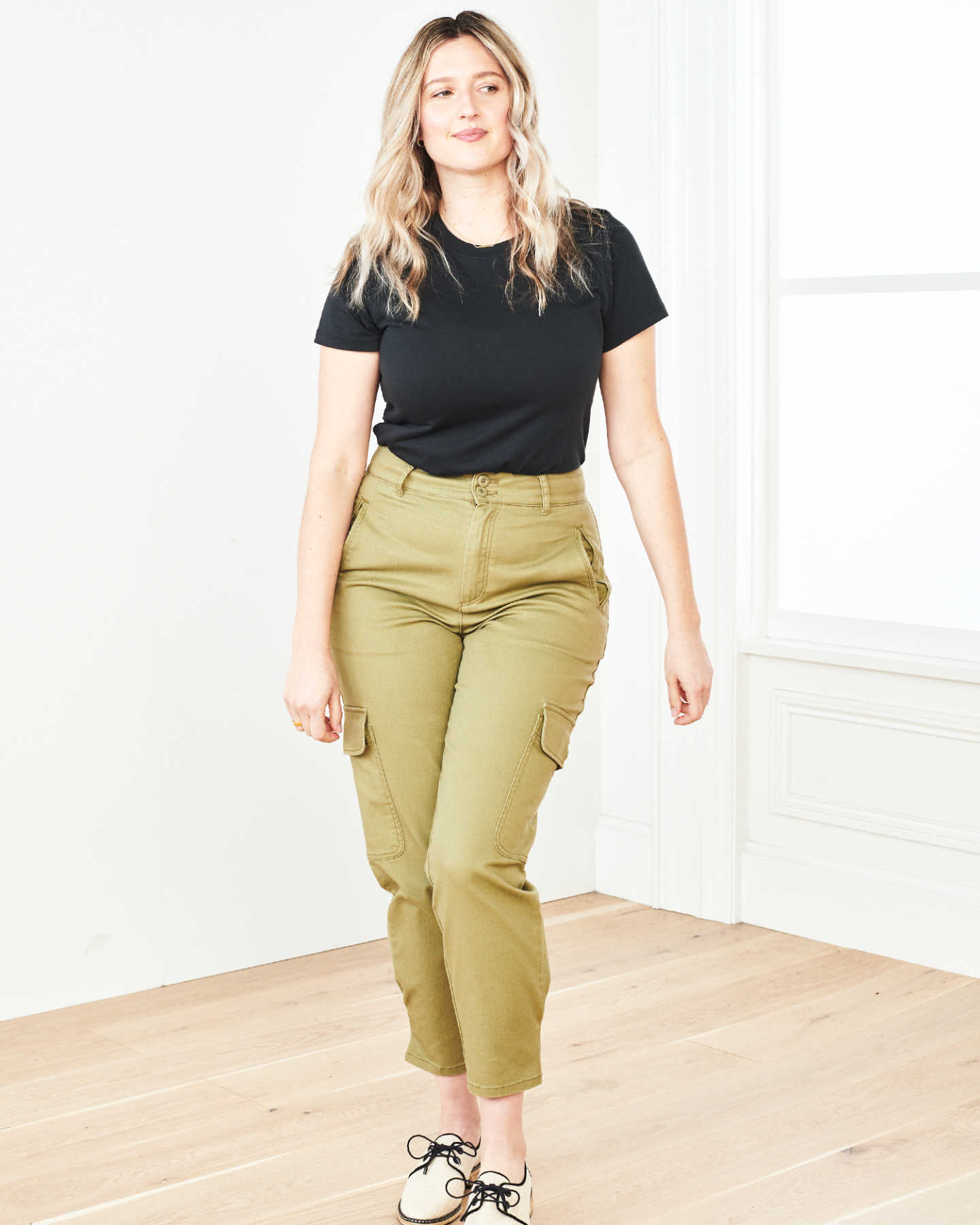 Stretch Cotton Twill Cargo Pant - Olive - 9