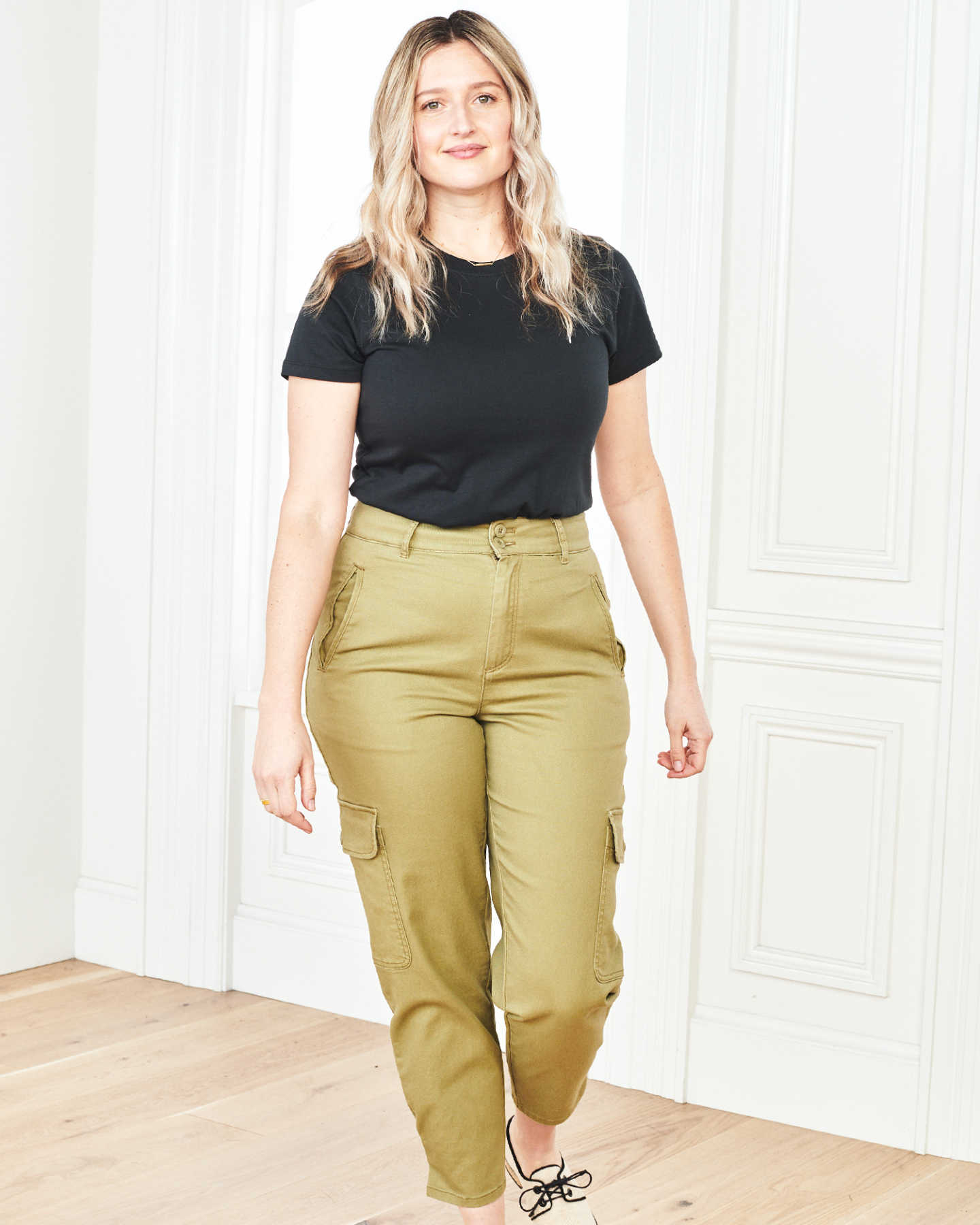 Stretch Cotton Twill Cargo Pant - Olive - 1