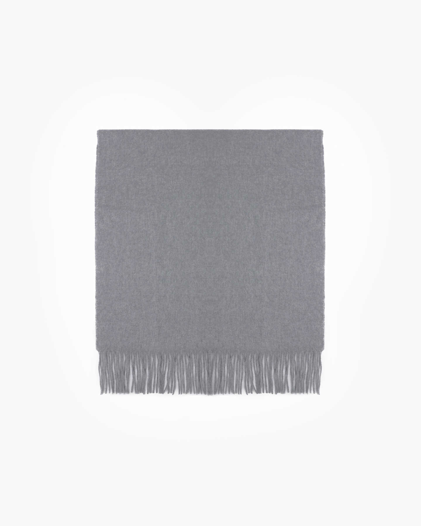 Mongolian Cashmere Throw - Heather Grey