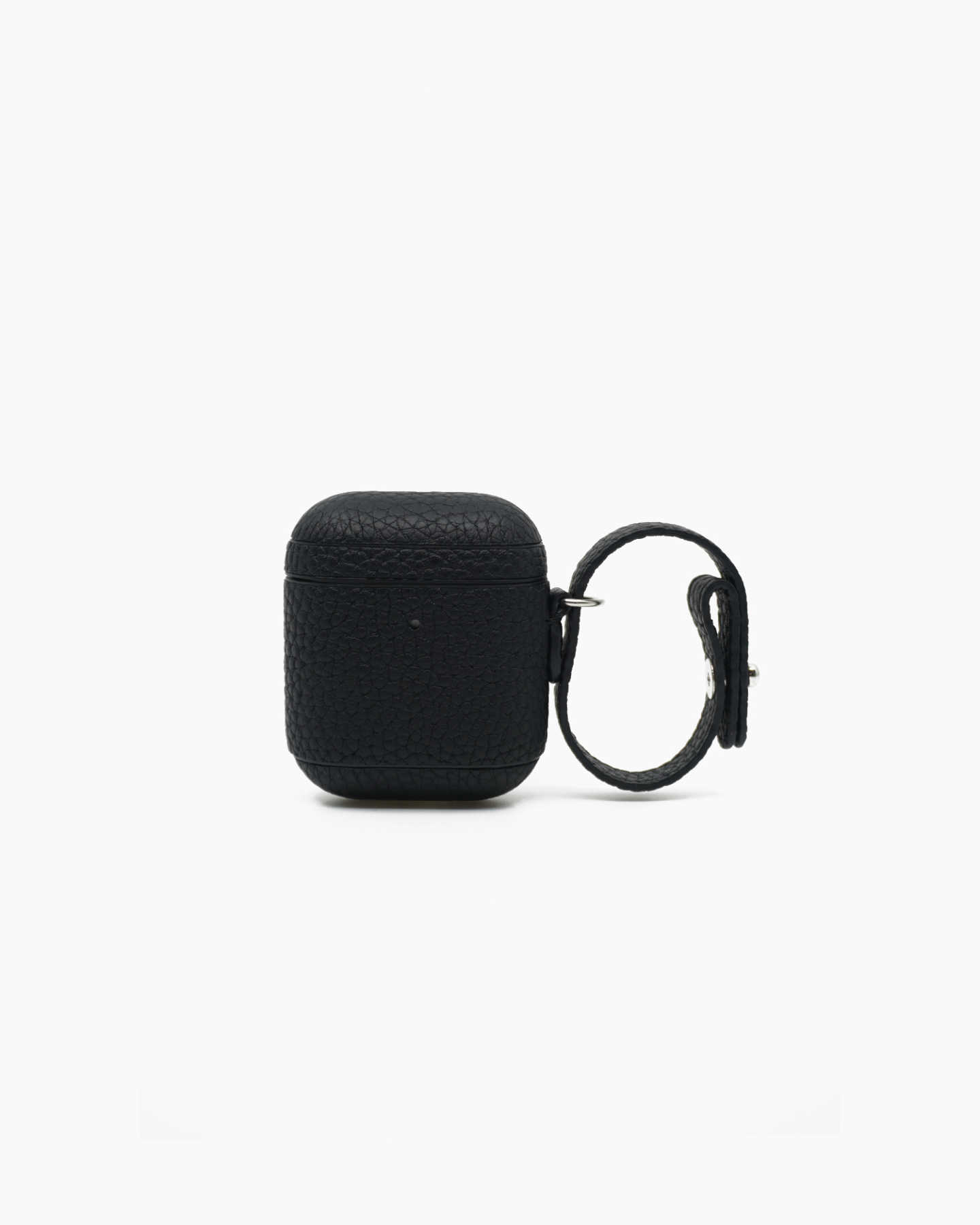 Premium Pebbled Leather AirPod Case - Black - 0