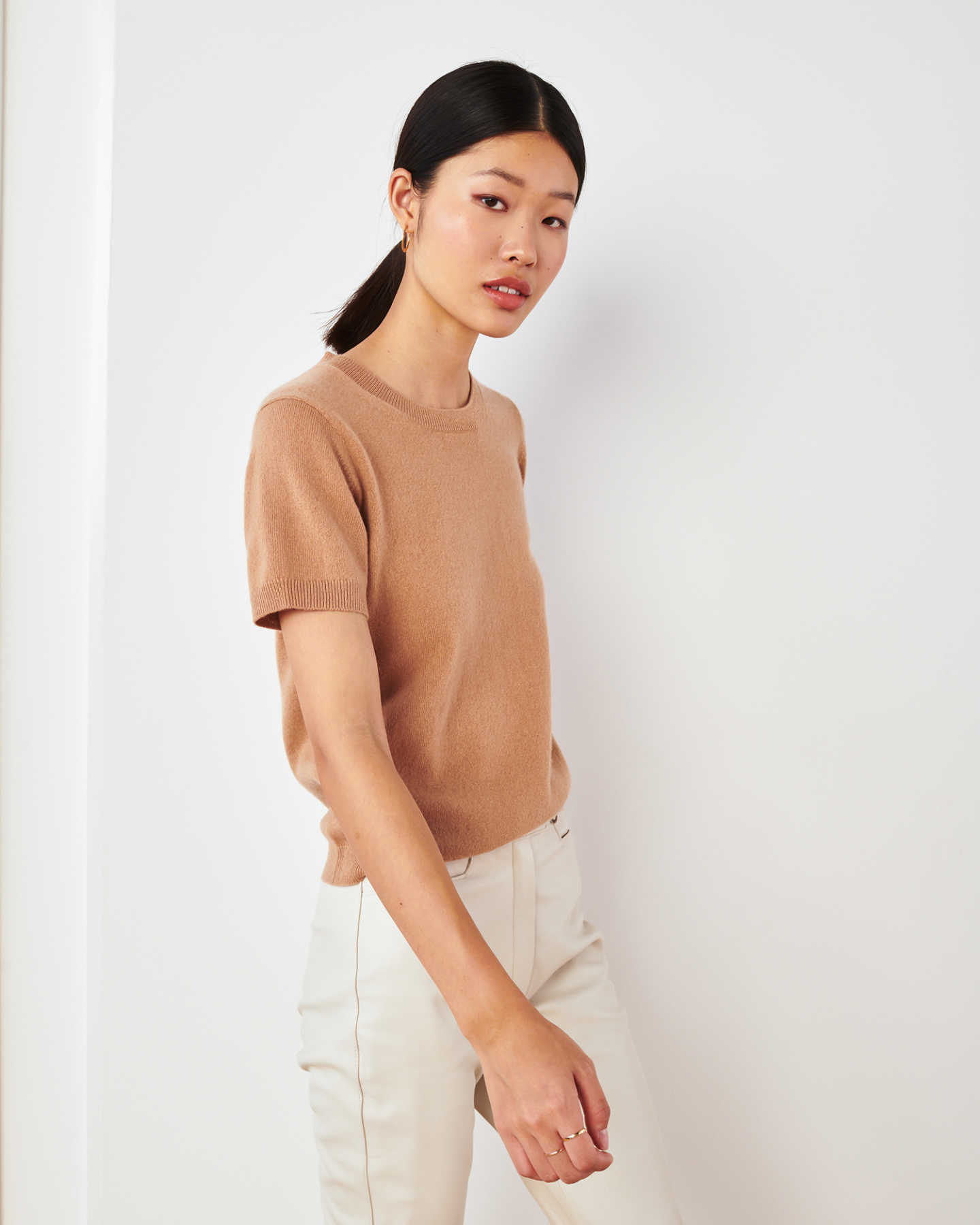 Pair With - Mongolian Cashmere Tee - Camel
