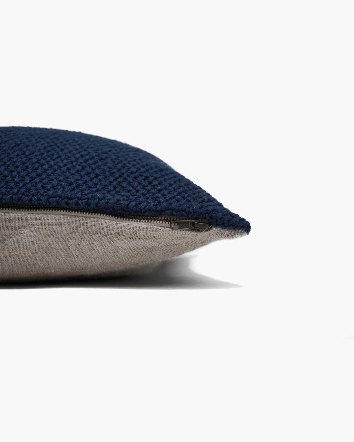 Textured Cotton Pillow Cover - Indigo - 3