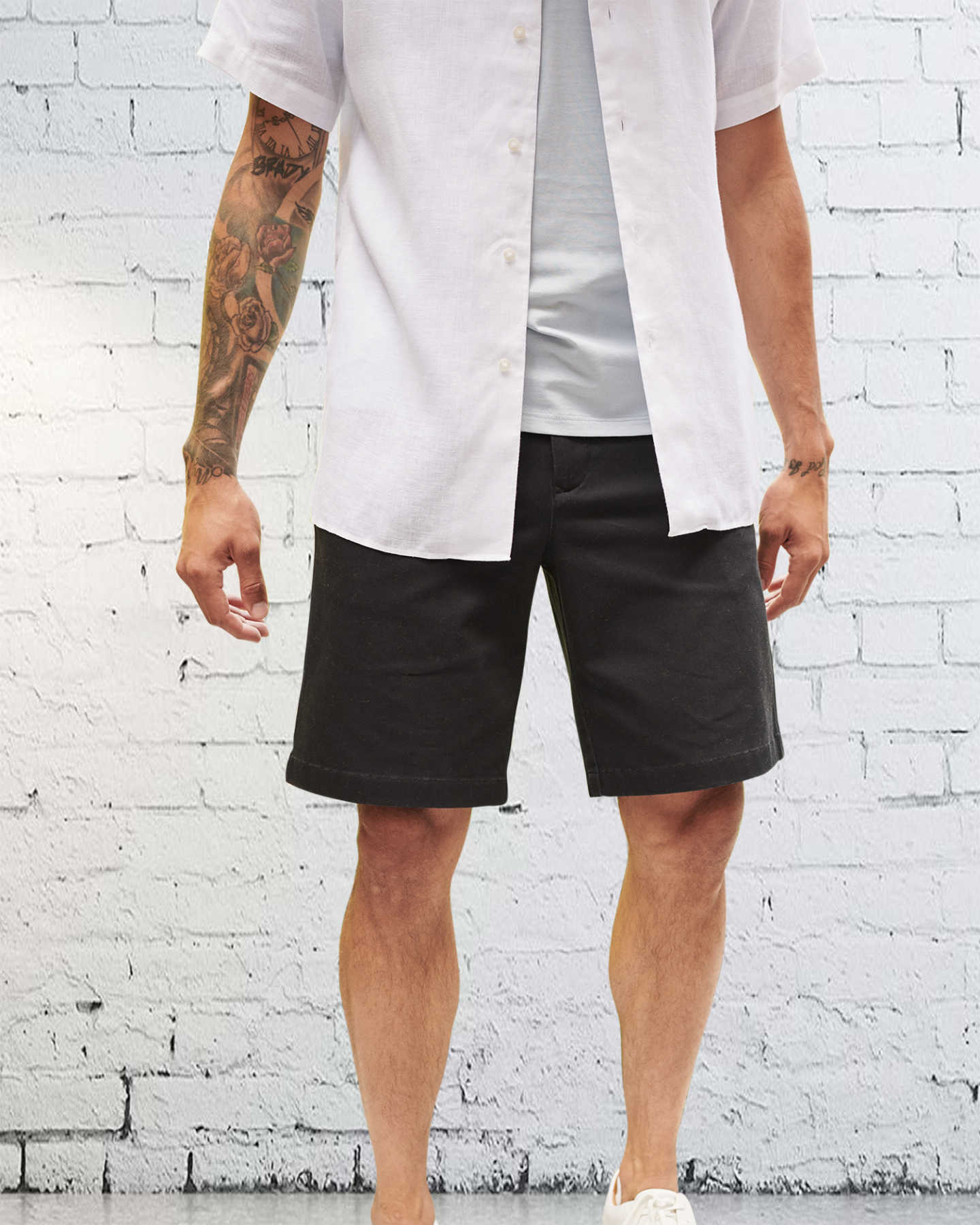 Organic Activeflex™ Chino Short  - Black