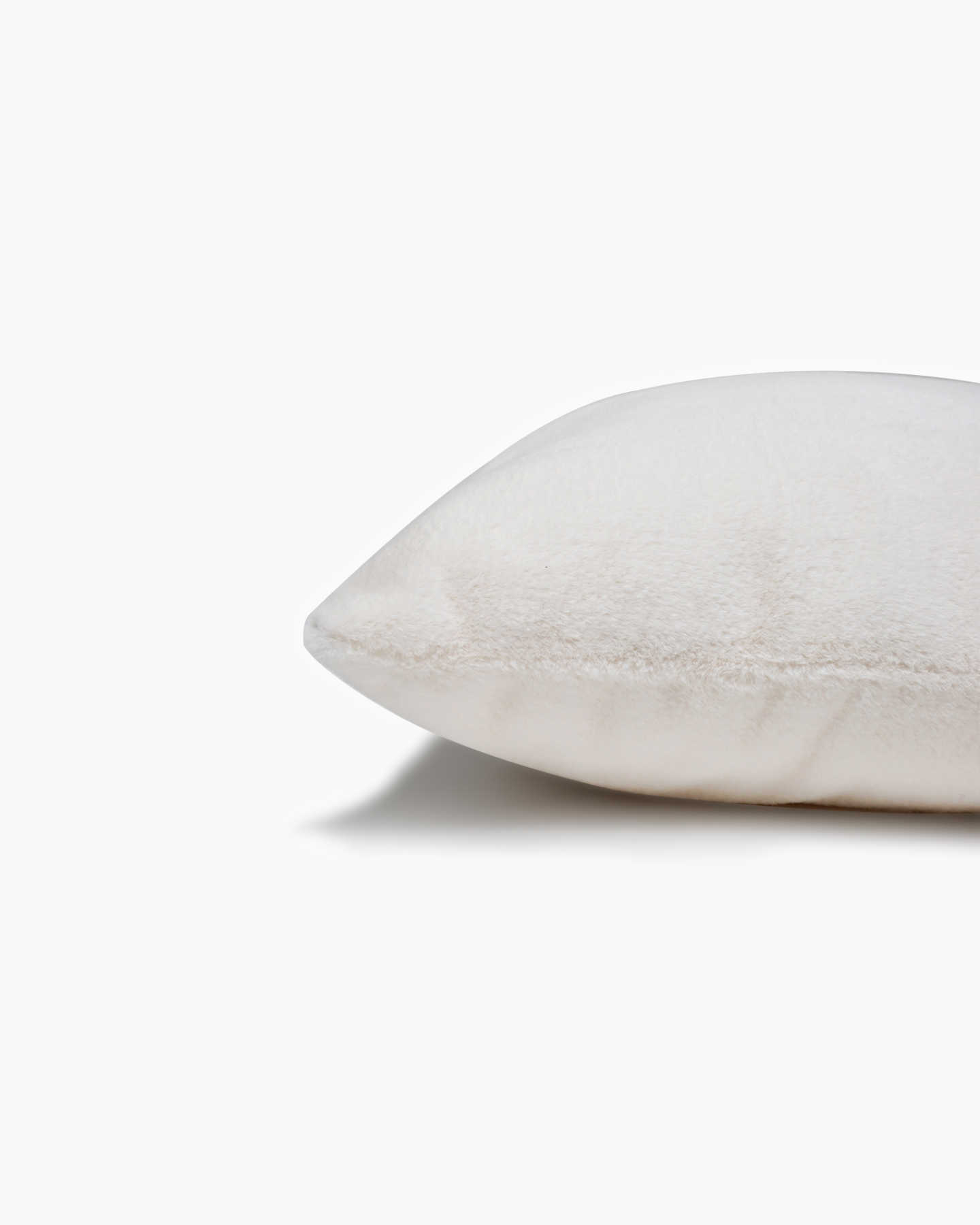 Plush Recycled Faux Fur Pillow Cover - Ivory - 2