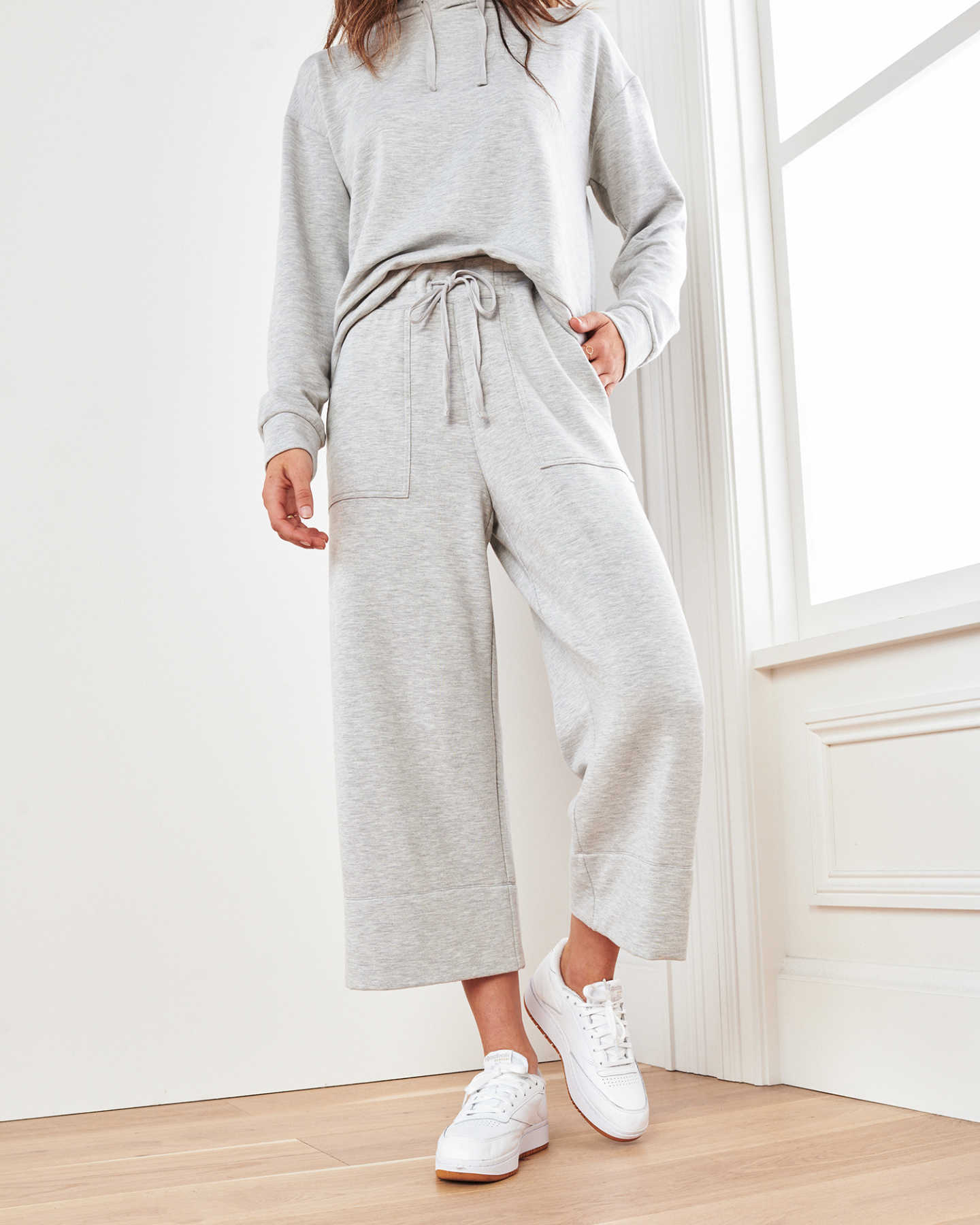 Pair With - SuperSoft Fleece Wide Leg Pants - Heather Grey