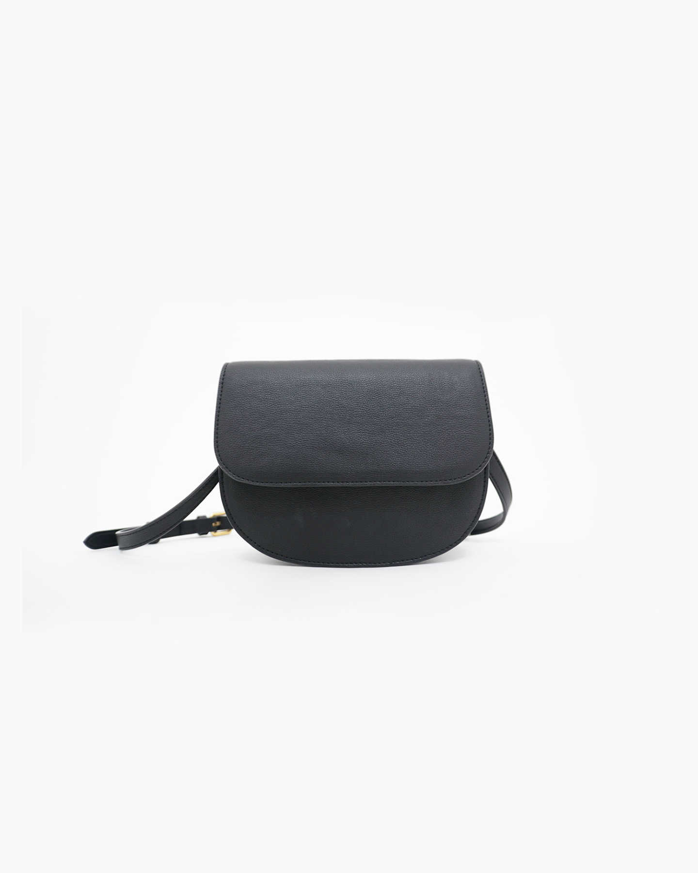 Vegan Saddle Bag - Black - 9