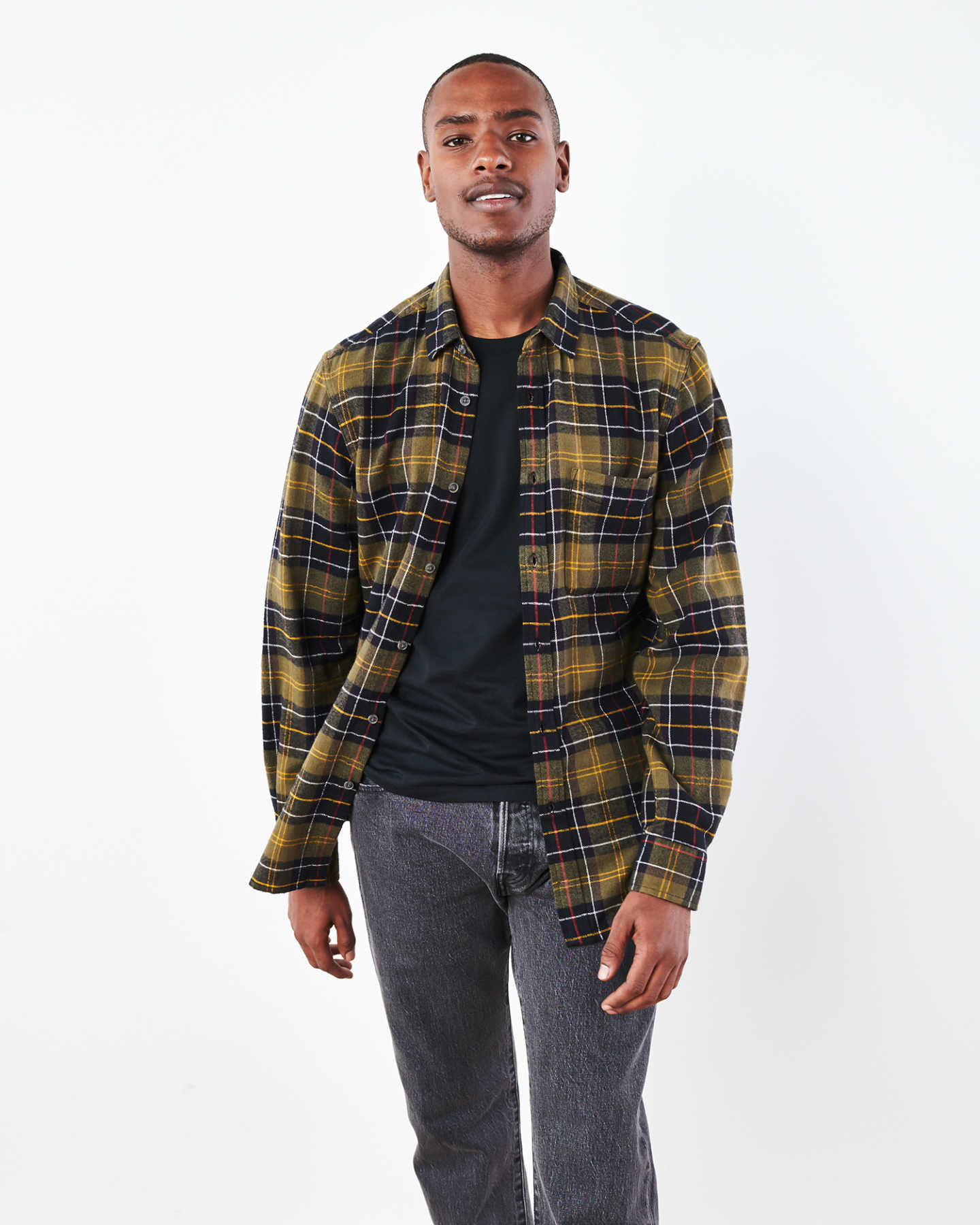 Soft Brushed Plaid Flannel Shirt - undefined - 6