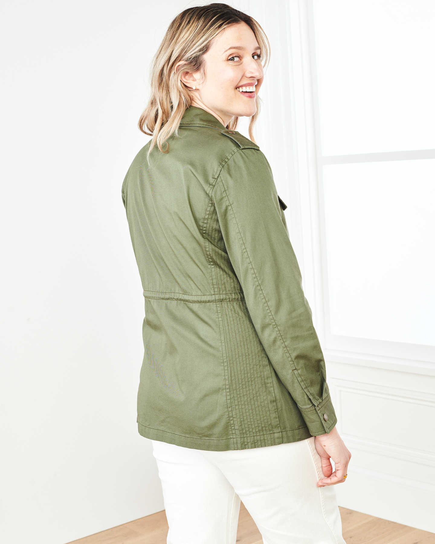Cotton Twill Utility Jacket - Olive - 8