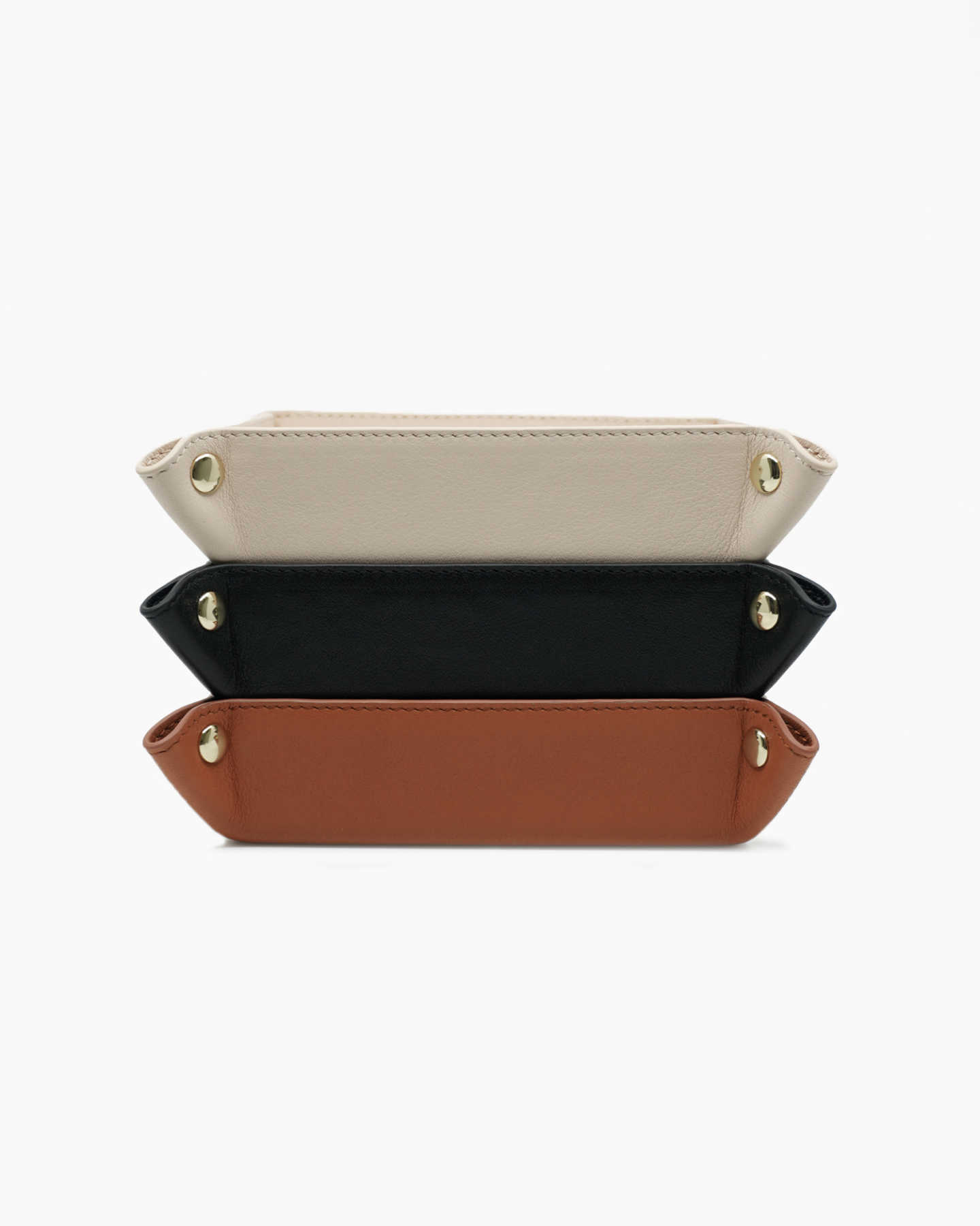 Luxe Full-Grain Leather Valet Tray - Soft Blush - 2