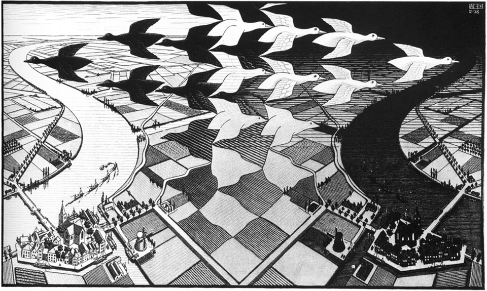 Day and Night, M.C. Escher