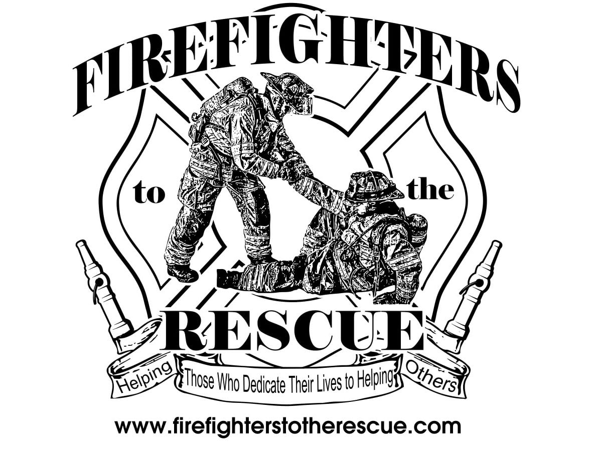 Firefighter's to the rescue logo