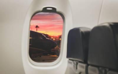 plane window tropical