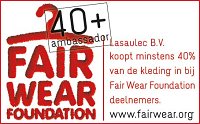 Logo Fairwear Foundation 40plus - klein