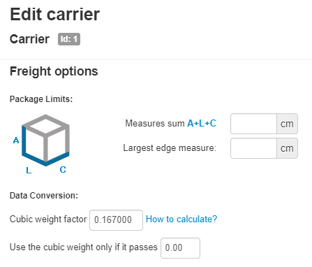 Cubic Weight