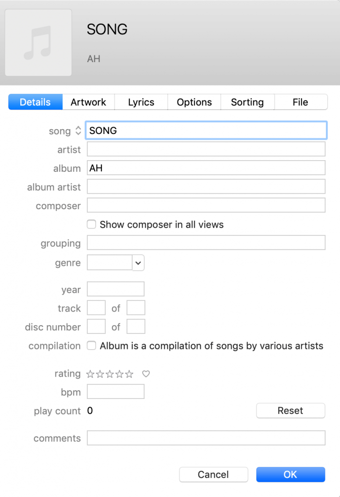 Illustration pour iTunes metadata