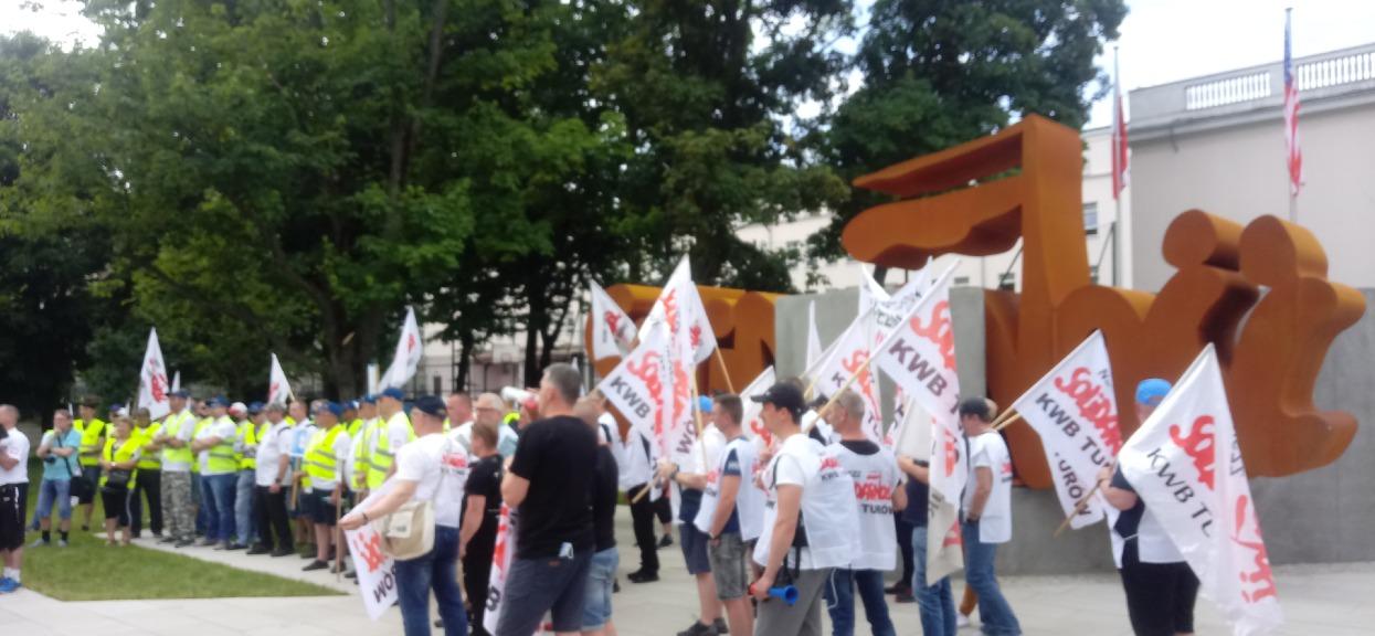 Protest sektora górniczo-energetycznego