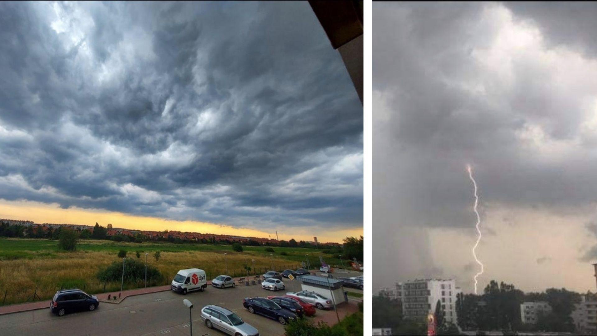 Nad Warszawą przeszła gwałtowna burza