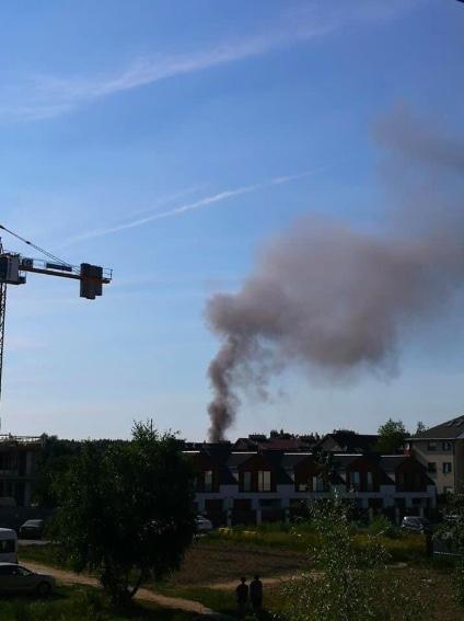 Dym widoczny jest z dużej odległości