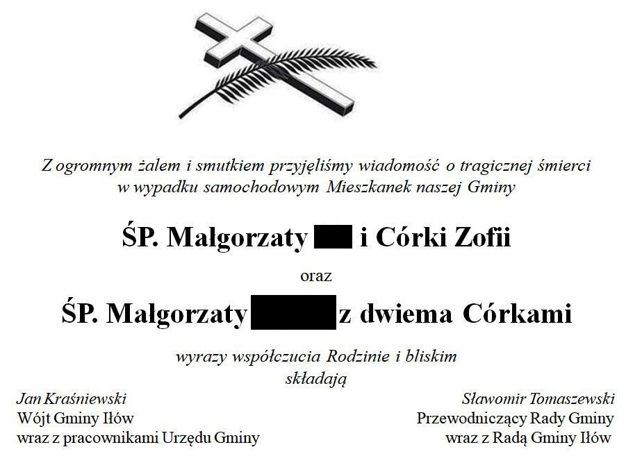 Kondolencje - Gmina Iłów//ilow.pl