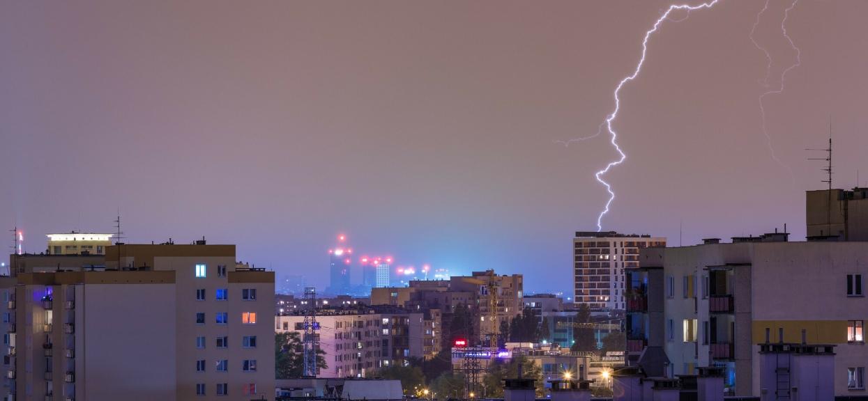 W Warszawie mogą wystąpić burze z gradem.