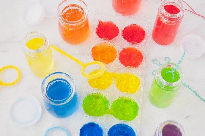 DIY Scented Rainbow Bubbles | Nellie's Free Range